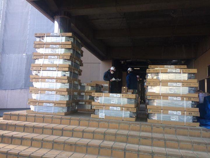 機械、材料搬入。 – 日昇空調設備株式会社